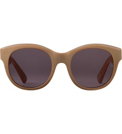 SUNDAY SOMEWHERE Matte Metallic Gold Paris Sunglasses Picutre