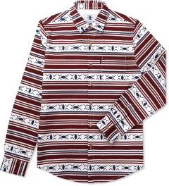 Daily Paper Burgundy Bakuba Shield Shirt Picutre