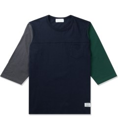 Liful Navy Colorblock Football T-Shirt Picutre