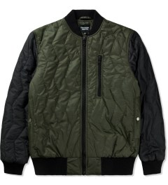 Christopher Raeburn Olive/Black Quilted Bomber Jacket Picutre