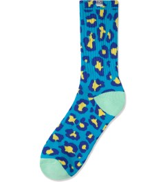 The Quiet Life Blue Leopard Socks Pack Picutre
