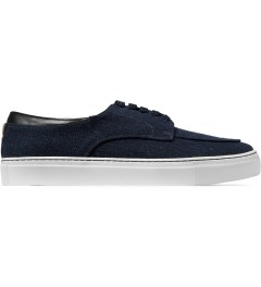 E.R SOULIERS DE SKATE Navy Tweed/Navy Nappa Shoes Picutre