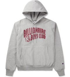 Billionaire Boys Club Heather Grey Billionaire Boys Club x Champion S/S Classic Arch Logo Pullover Hoodie Picutre