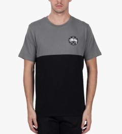 Stussy Charcoal Half Cut T-Shirt Model Picutre