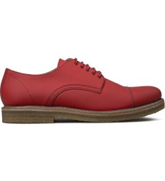 Carven Red Derbies Mat Mat Leather Shoes Picutre
