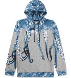 OCTOPUS Light Grey Blue Poly Hooded Sweater Picutre
