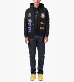 Billionaire Boys Club Black Skoloct Starfield Popover Hoodie Model Picutre