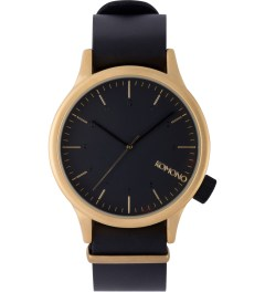 KOMONO Gold Black Magnus Watch Picutre