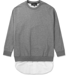 3.1 Phillip Lim Grey Melange Tail Pullover L/S Shirt Picutre