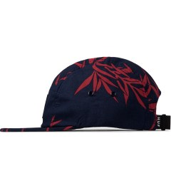 HUF Navy Bamboo Box Logo Volley Cap Model Picutre
