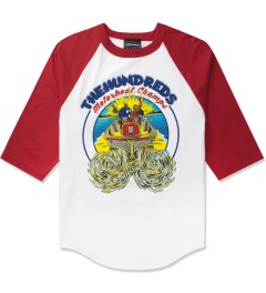 The Hundreds Red/White Motorboat Baseball ¾ Sleeve T-Shirt Picutre
