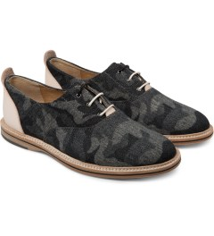 Thorocraft Black Denim Camo Hampton Shoes Model Picutre