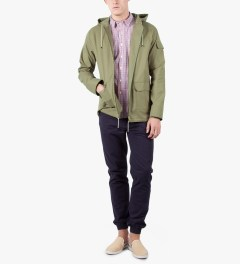 A.P.C. Khaki Iceland Windbreaker Jacket Model Picutre