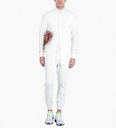 Rochambeau White Bruise Print Botton Down Shirt Model Picutre