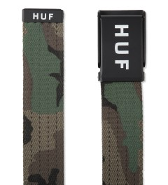 HUF Woodland Camo Original Logo Scout Belt Model Picutre