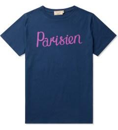 Maison Kitsune Navy Parisien Print Crewneck T-Shirt Picutre