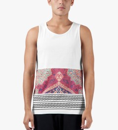Black Scale White Holy Land Tank Top Model Picutre