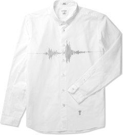 "Bedwin & The Heartbreakers White ""Debbie"" L/S Short Point Broad Shirt Picutre"