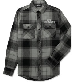 The Hundreds Black Nation Button Up Flannel Shirt Picutre