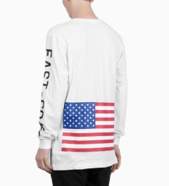 Stampd White Coastal Long Sleeve T-Shirt Model Picutre