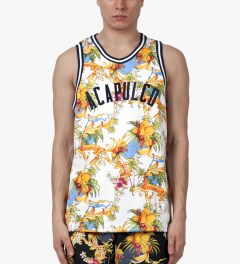 Acapulco Gold White Palm Springs Basketball Jersey Model Picutre
