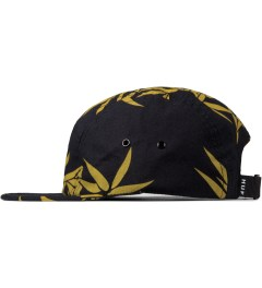 HUF Black Bamboo Box Logo Volley Cap Model Picutre