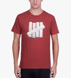 Undefeated Red Embroidery Strike T-Shirt Model Picutre