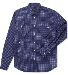 CASH CA Navy Dot 4 Pocket L/S Shirt Picutre