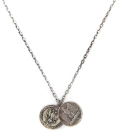 Miansai Silver FL Coin & Eagle Silver Necklace Picutre