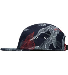 Publish Navy Digital Floral 5-Panel Camper Cap Model Picutre
