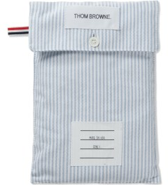 Thom Browne Blue Striped Oxford Boxer Model Picutre