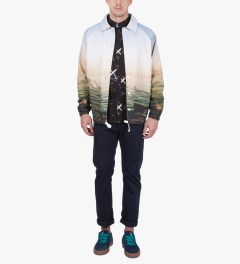 Copson Multi Color Print Barbarossa Jacket Model Picutre