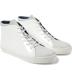 Opening Ceremony White Classic High Top Shoes Model Picutre