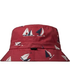 Odd Future Red Sinking Boat Bucket Hat Model Picutre