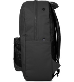 Stussy Dark Grey World Tour Backpack Model Picutre
