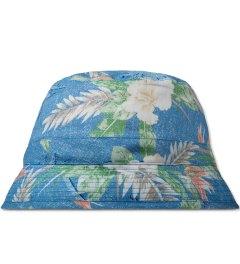 BWGH Blue Floral Print Bob Bucket Hat Picutre