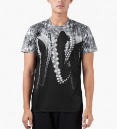 OCTOPUS Black S/S Poly T-Shirt Model Picutre