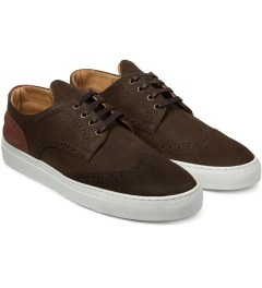 Filling Pieces Elephant Embossed Brown Brogue Shoe Model Picutre