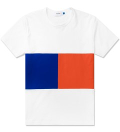 Aloye White/Blue/Orange Geometry #6 Color Blocked S/S T-Shirt Picutre
