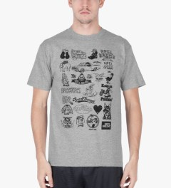 Heel Bruise Heather Grey Cluster T-Shirt Model Picutre