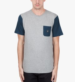 Us Versus Them Heather Grey Blocked Out T-Shirt Model Picutre