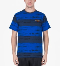The Hundreds Navy Marble T-Shirt Model Picutre