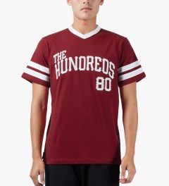 The Hundreds Red Penn T-Shirt Model Picutre
