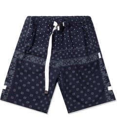 Liful Navy Paisley Camp Shorts Picutre