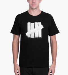 Undefeated Black Embroidery Strike T-Shirt Model Picutre