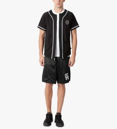 AURA GOLD Black Poly Mesh Baseball Jersey Model Picutre