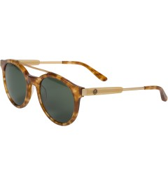 Stussy Tortoise/Green Luca Sunglasses Model Picutre