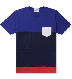 Aloye Aloye x WONG WONG Blue/Navy Blue Japan Color Blocked S/S T-Shirt Picutre