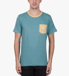 Stussy Light Blue Nicholas T-Shirt Model Picutre