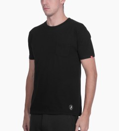 "Bedwin & The Heartbreakers Black ""Barney"" Pocket T-Shirt Model Picutre"